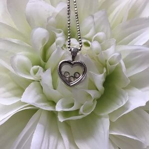 .925 Sterling Silver Heart Pendent Necklace